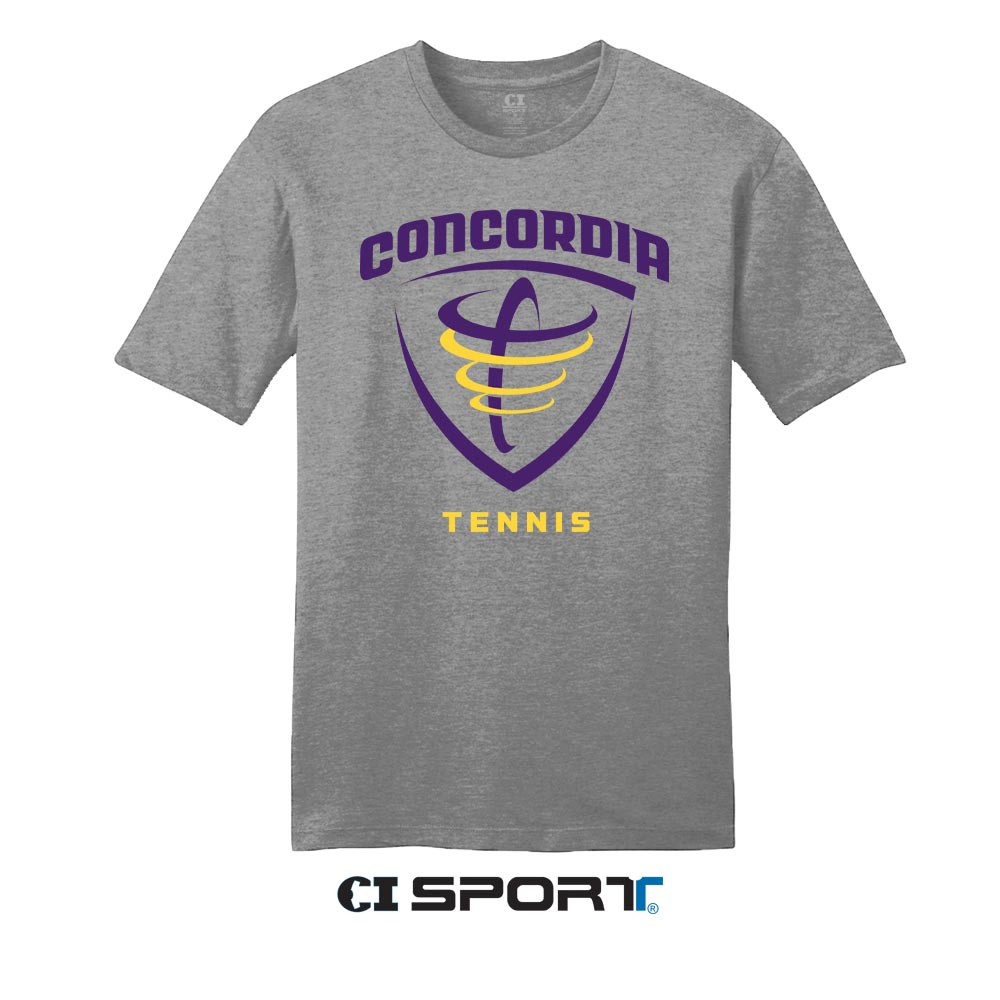 ND Tennis Tee - Heather Grey