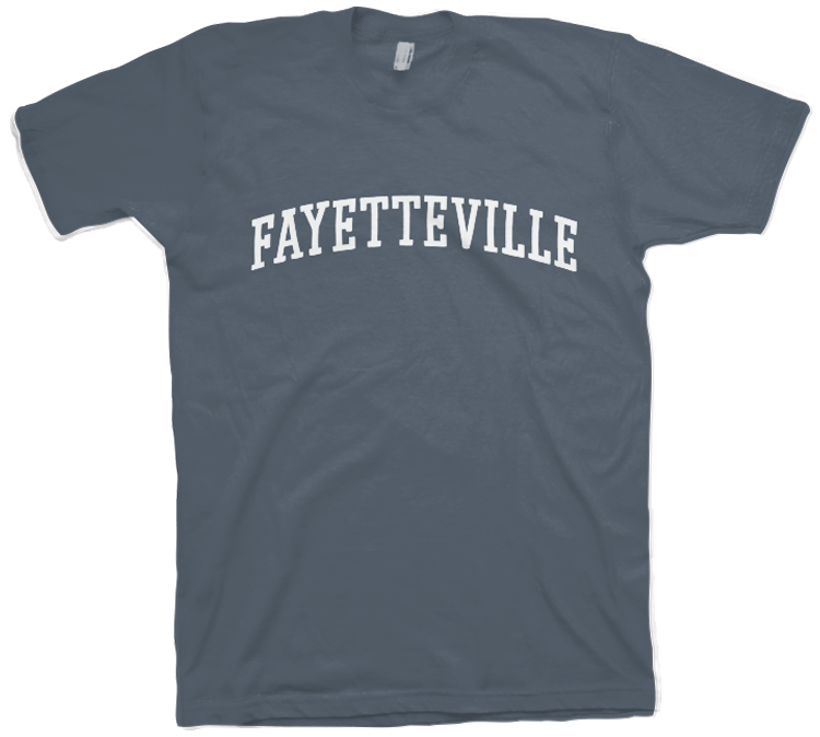 M Distressed Hometown SS Tee Fayetteville Arch