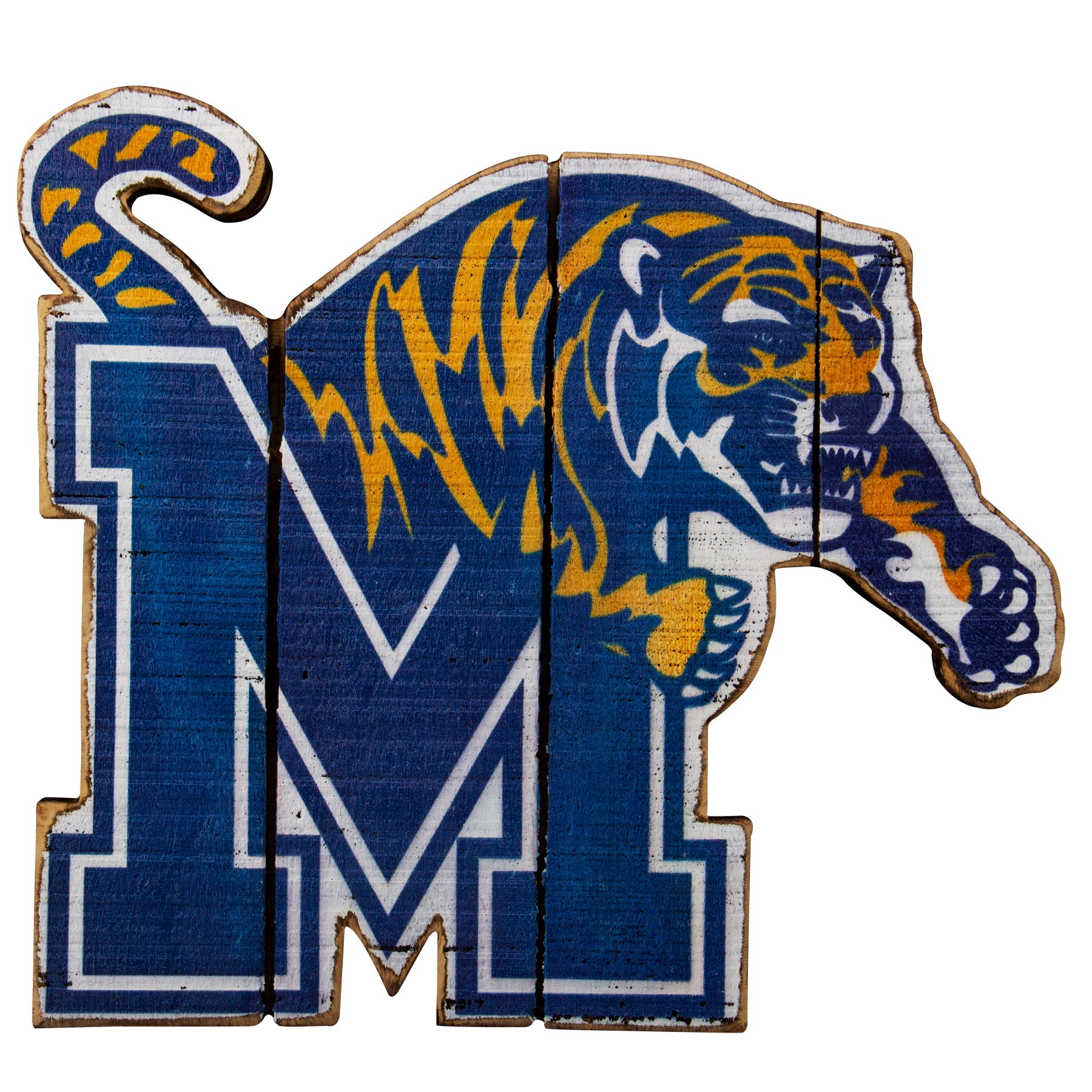 University of Memphis Wood Wall Sign
