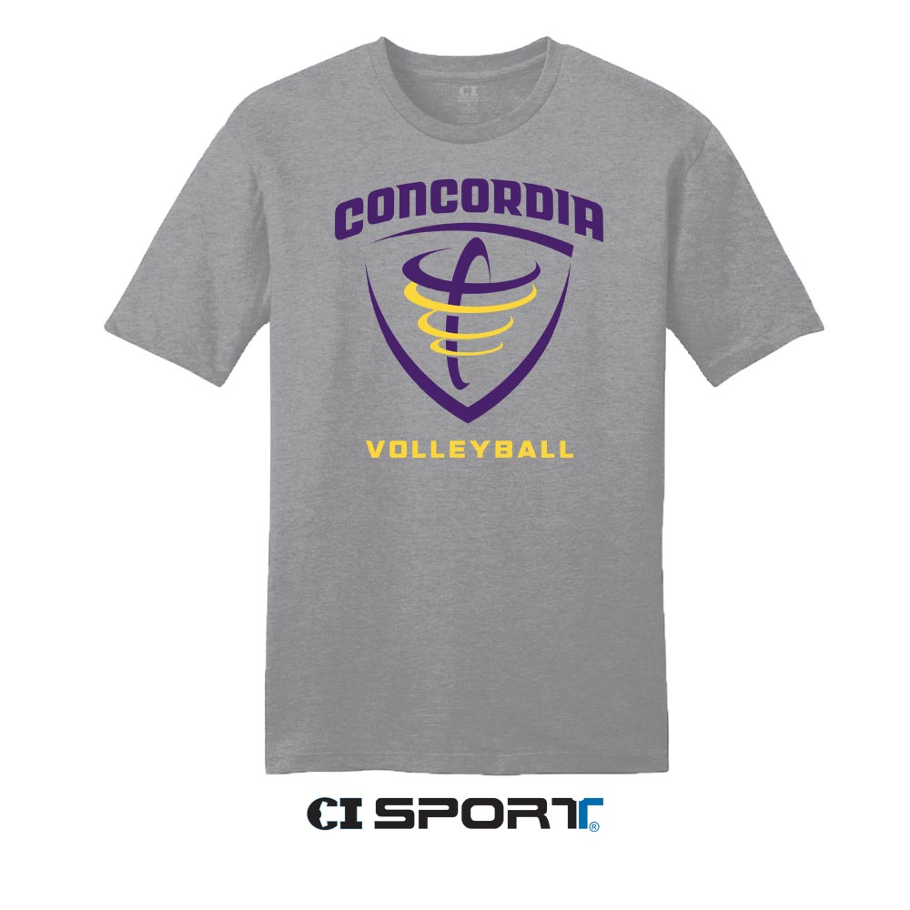 ND Volleyball Tee - Heather Grey