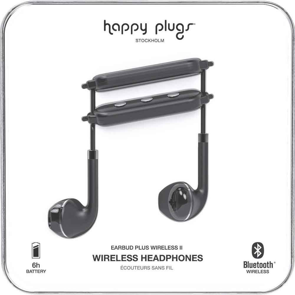 Happy Plugs Earbuds Plus Wireless II - Black