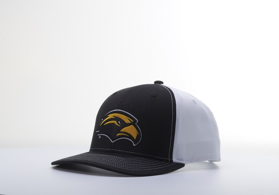 Adjustable 3d Golden Eagle Panel Hat