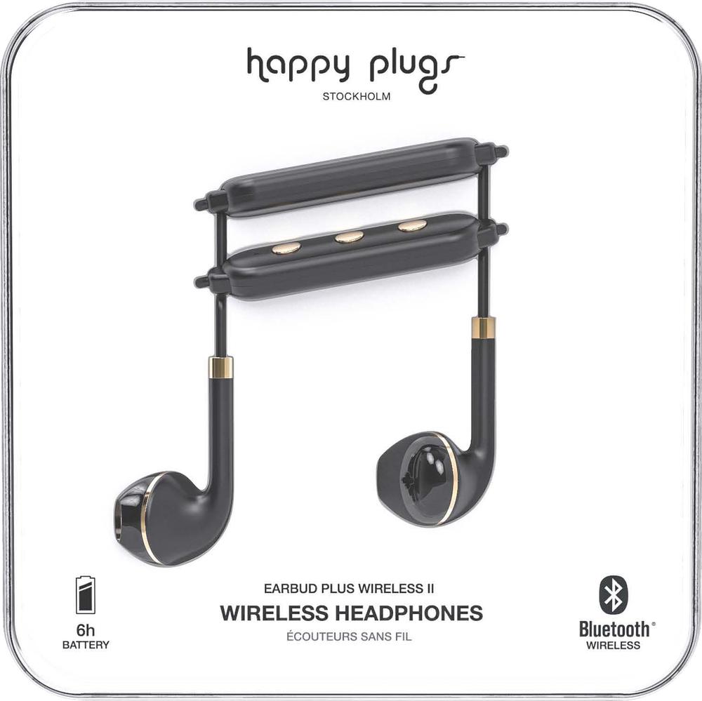 Happy Plugs Earbuds Plus Wireless II - Black Gold