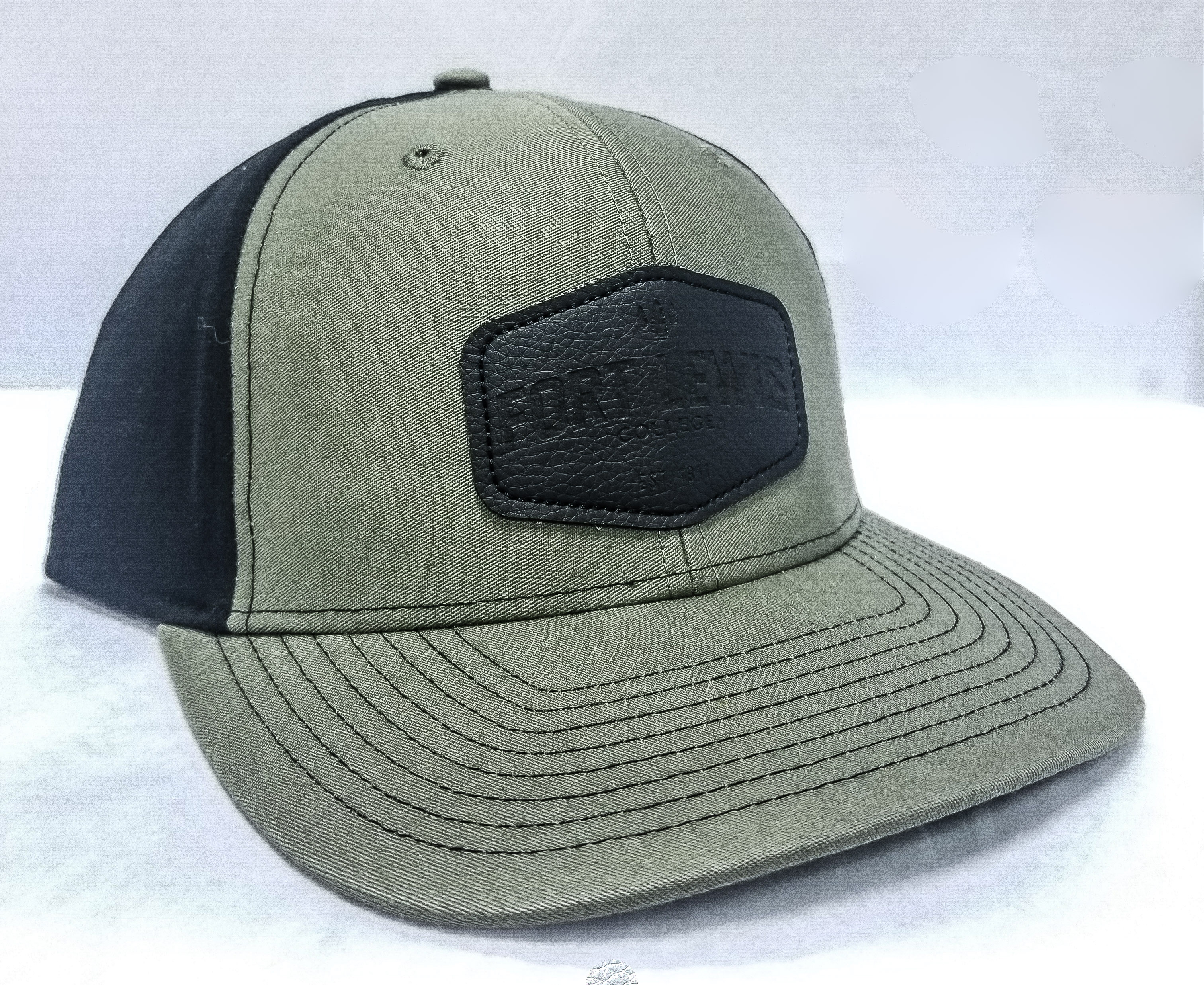 FLC Faux Leather Patch Mesh Trucker Hat