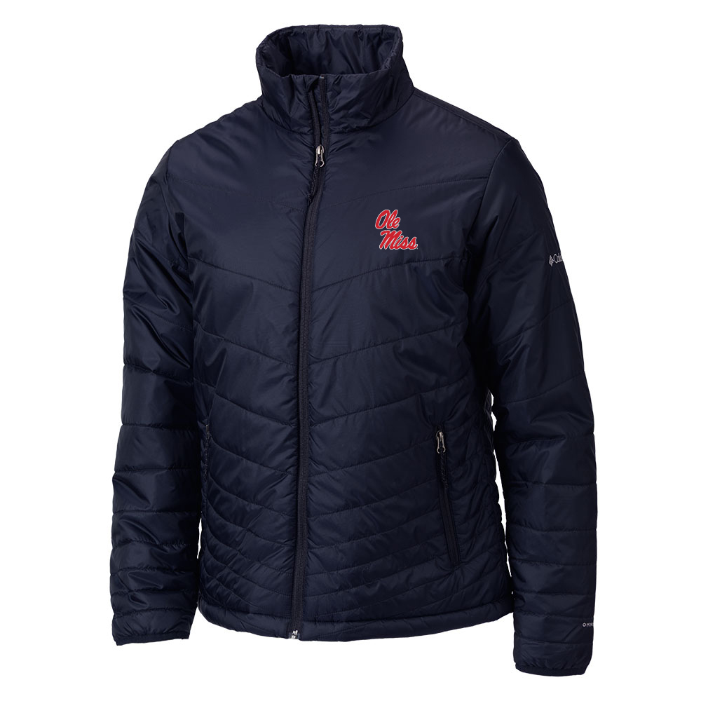 Columbia Navy Mighty Lite Omni-Heat Jacket