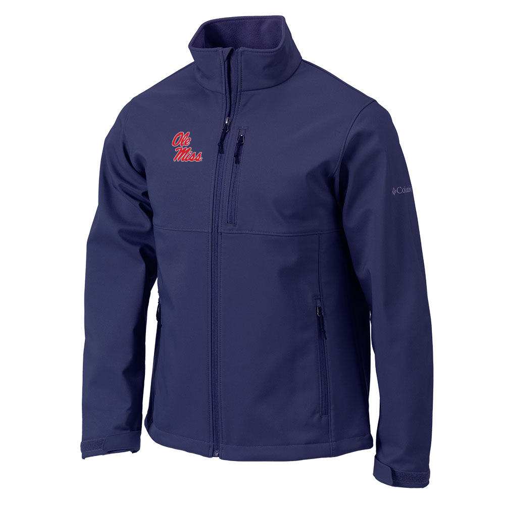 Columbia Navy Ascender Soft-Shell Jacket