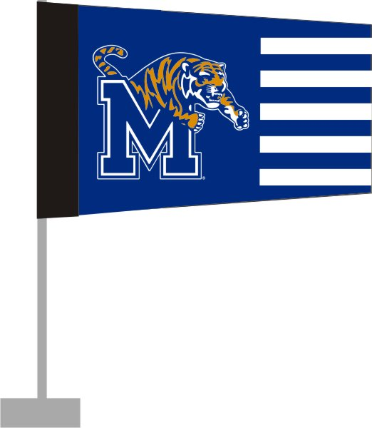 University of Memphis Car Flag