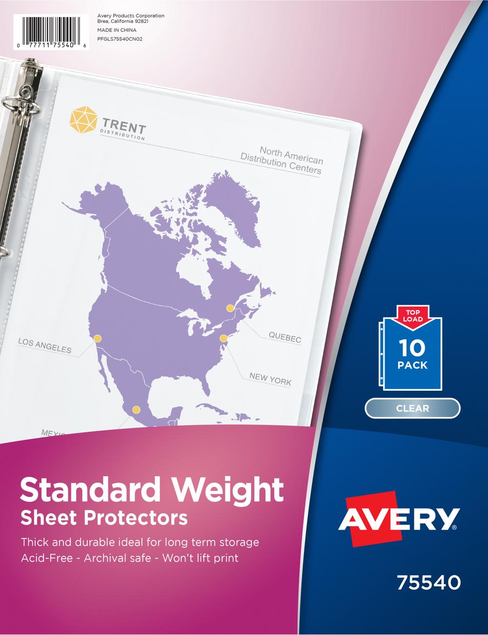 Standard Weight Sheet Protectors
