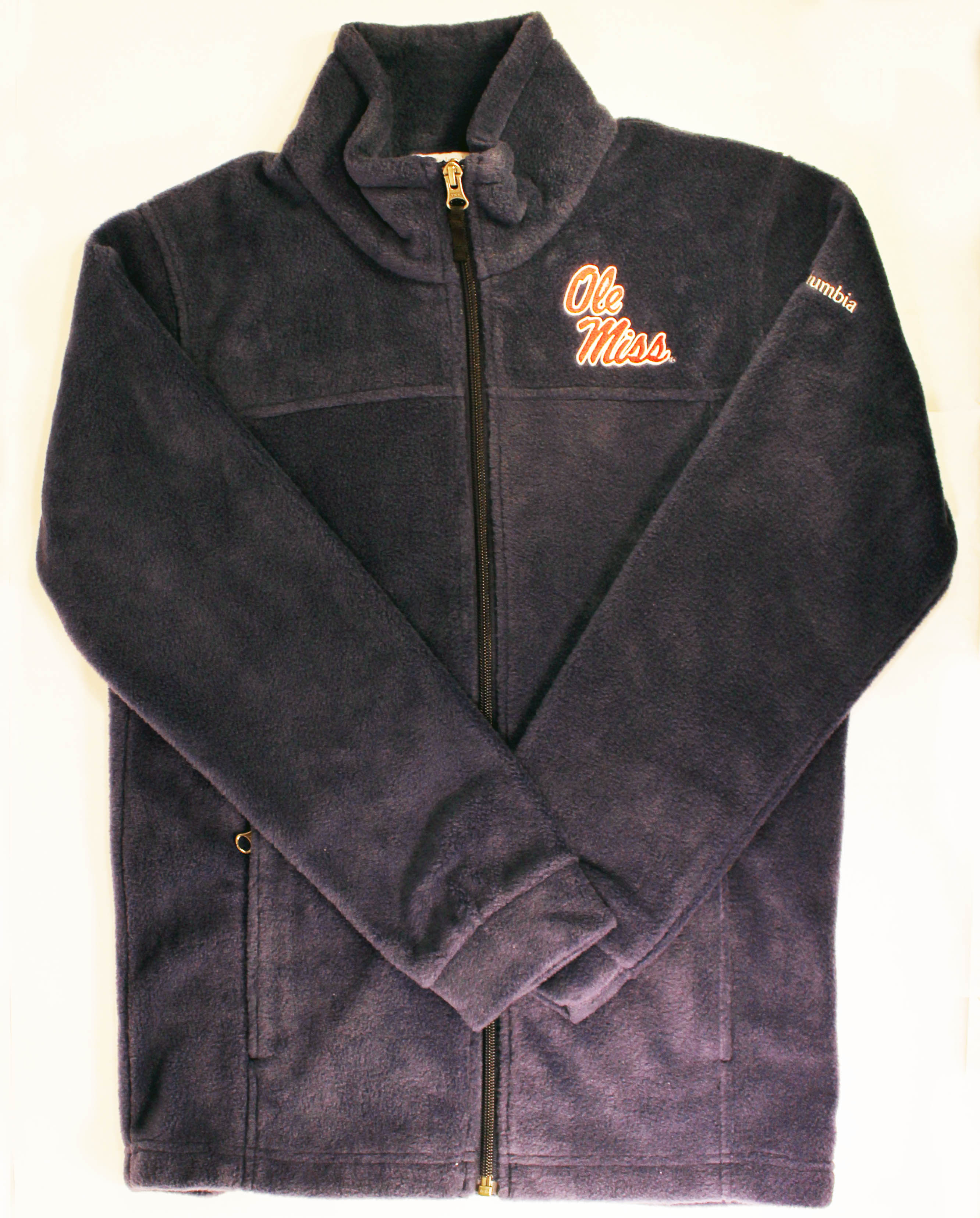 Kids Columbia Navy Ole Miss Script Jacket
