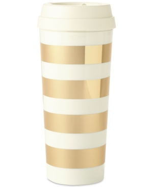 Kate Spade Thermal Mug Gold Stripe