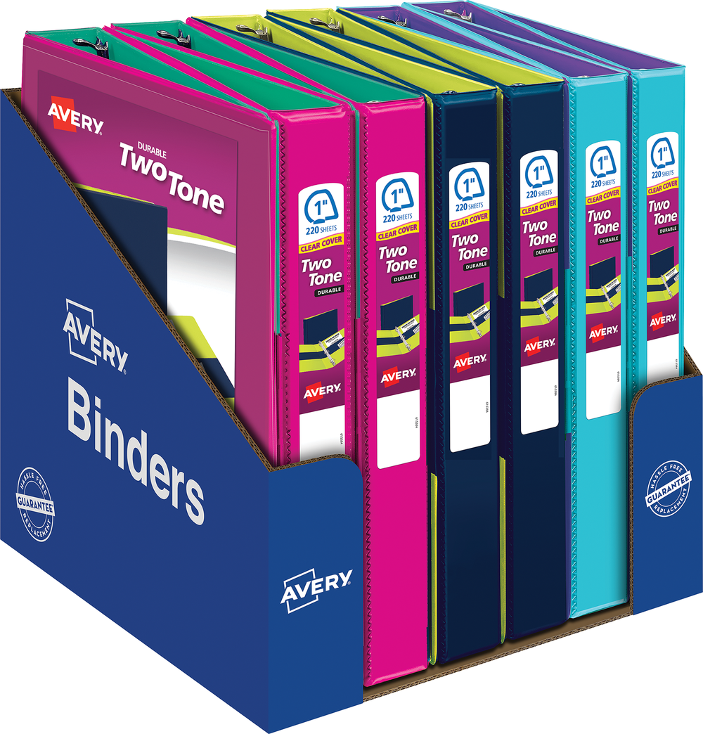 Durable Two Tone View Binder