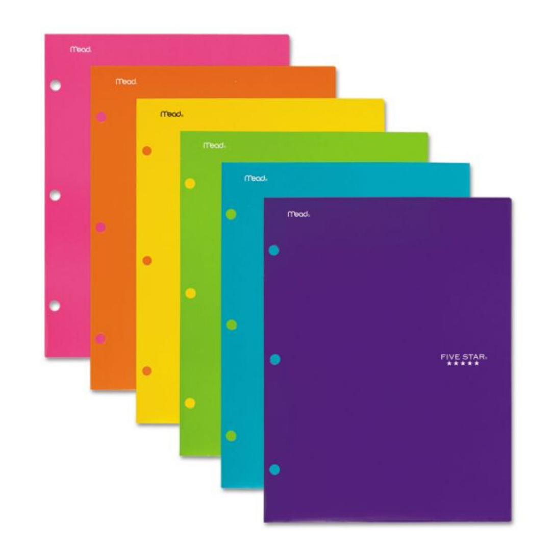 MEAD FIVE STAR MULTI COLOR BINDER