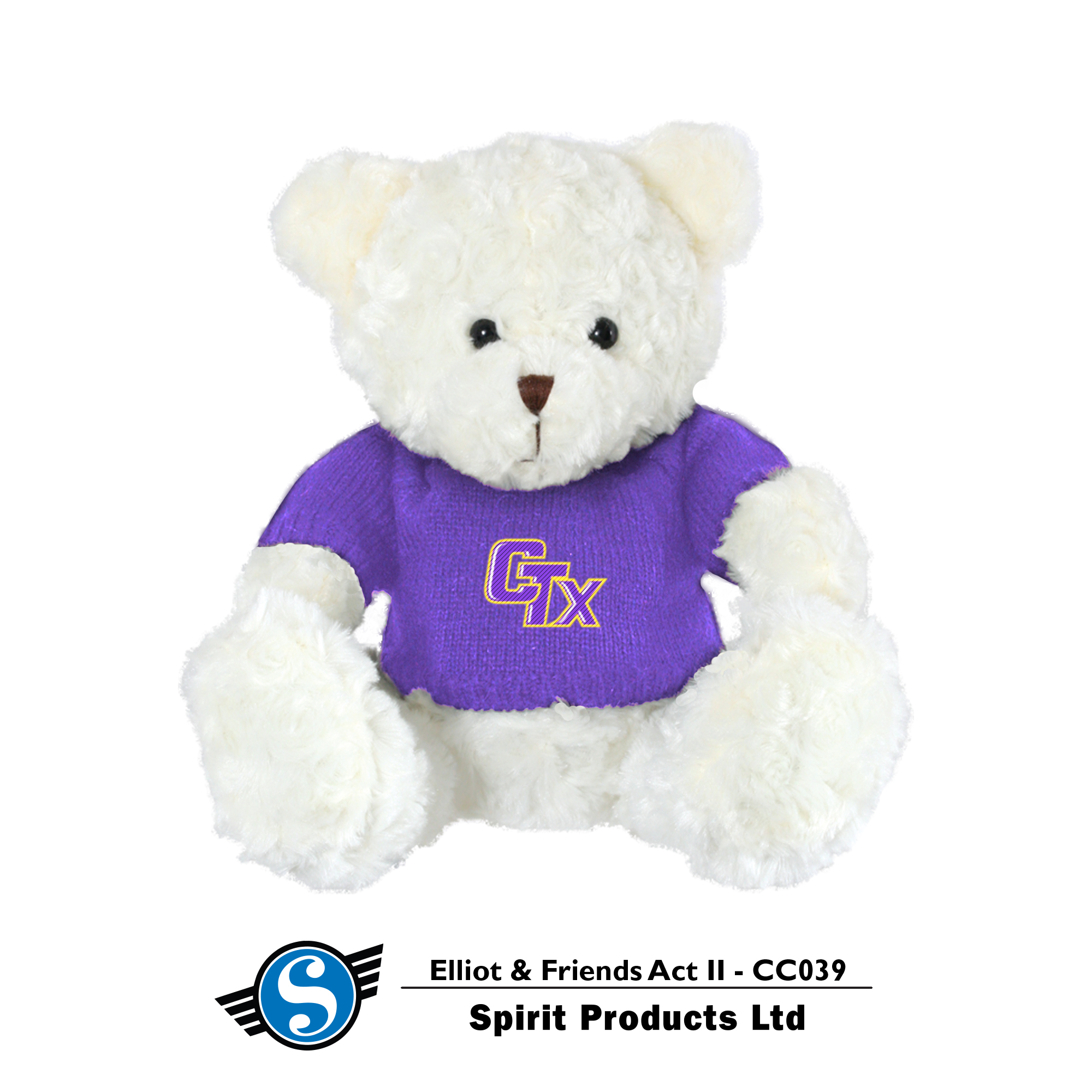 Bear in CTX Sweater - Ivory