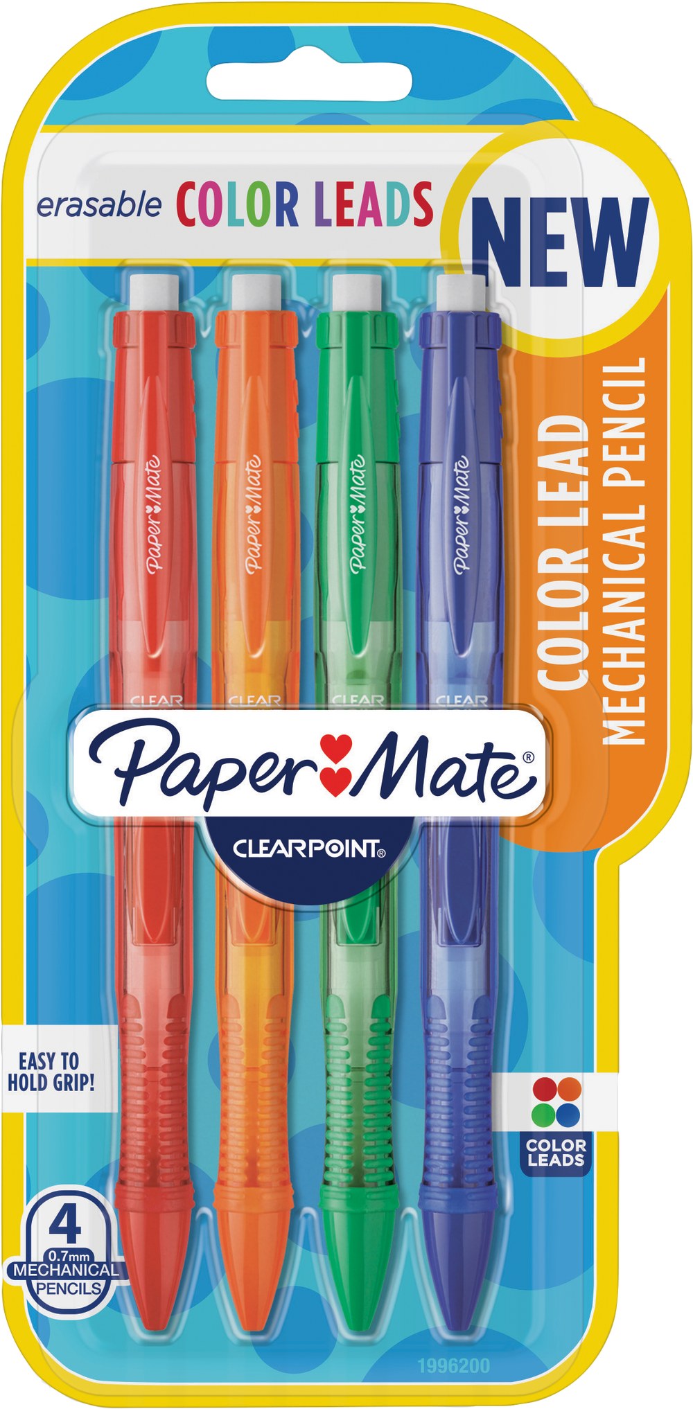 Paper Mate Clearpoint Colored Replacement Lead - Asst .7mm 4Pk BP