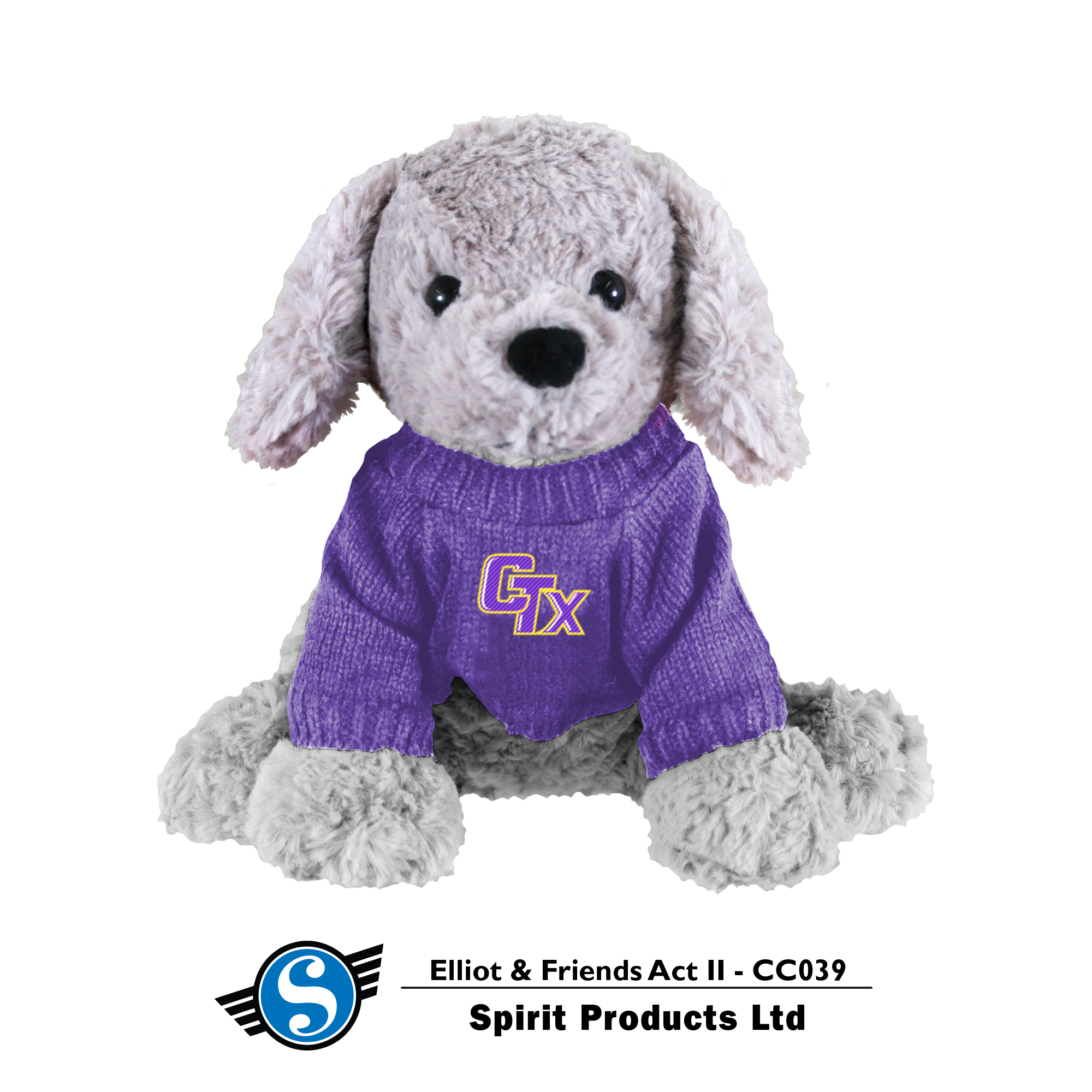 Puppy in CTX Sweater - Gray