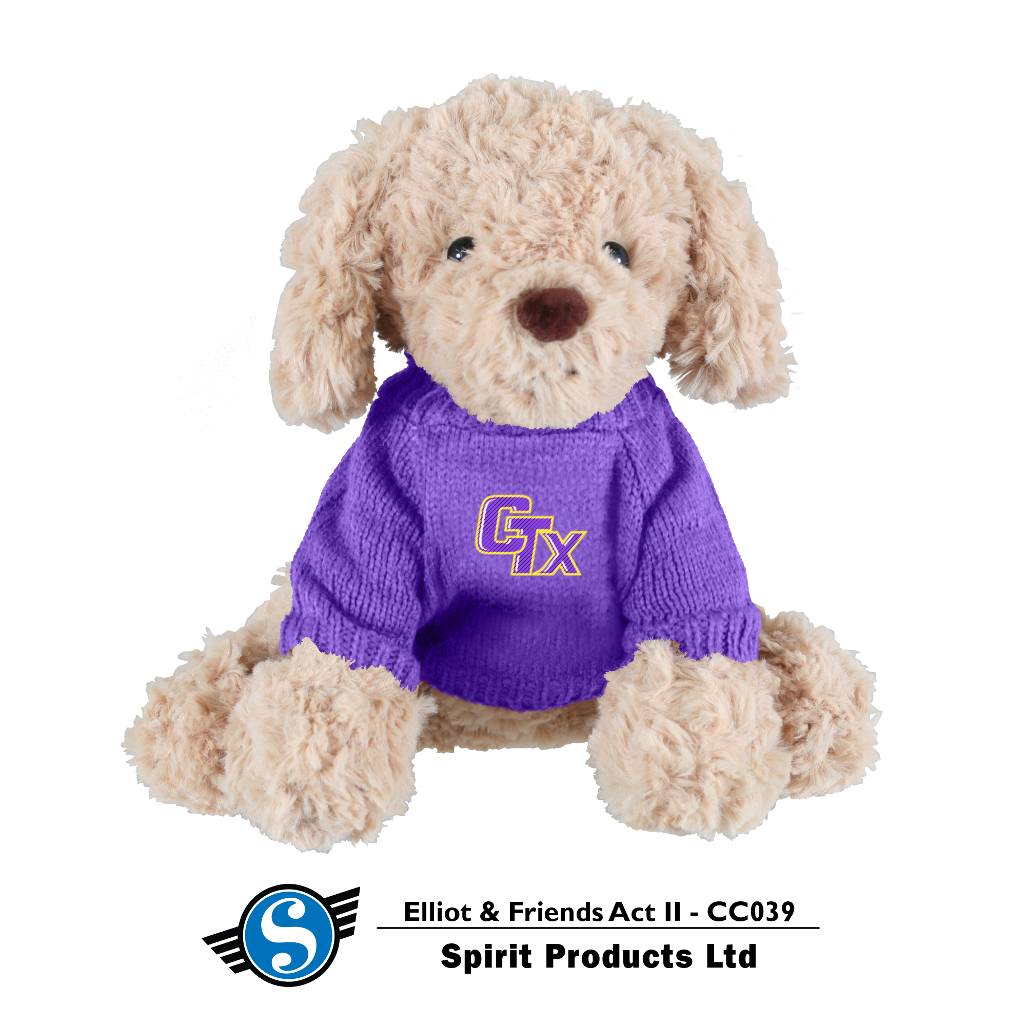 Puppy in CTX Sweater - Toffee