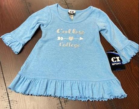 Infant Ruffled 3/4 Sleeve Dress