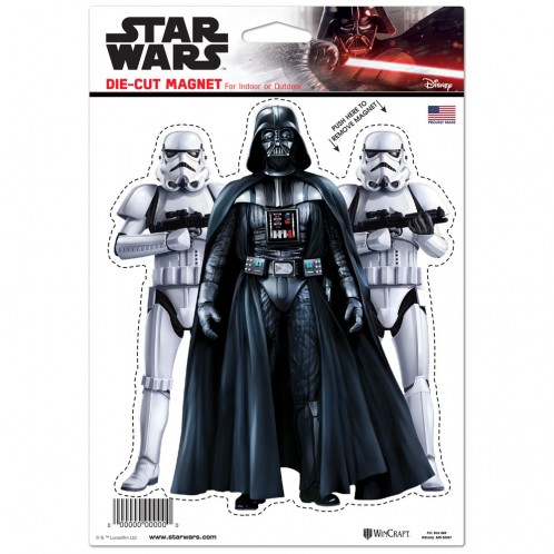 Darth Vader/Storm Troopers Die Cut Magnet