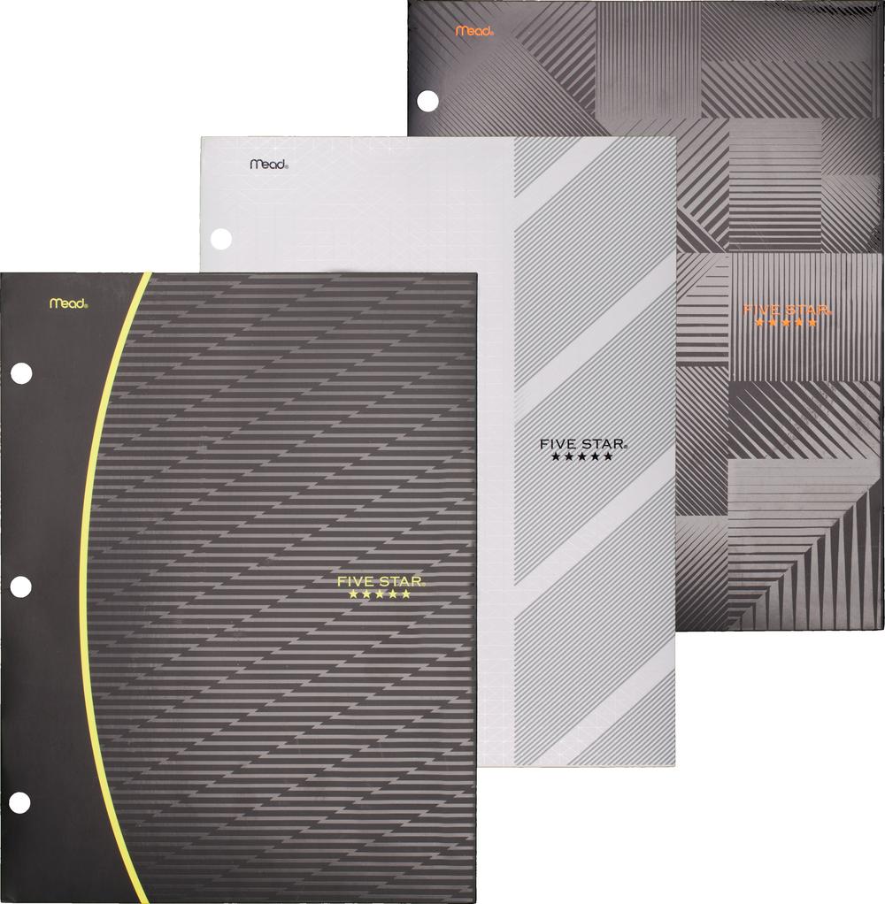 Five Star Graphics Paper Pocket Folder - Asst 9x12in Bulk 4 Pocket