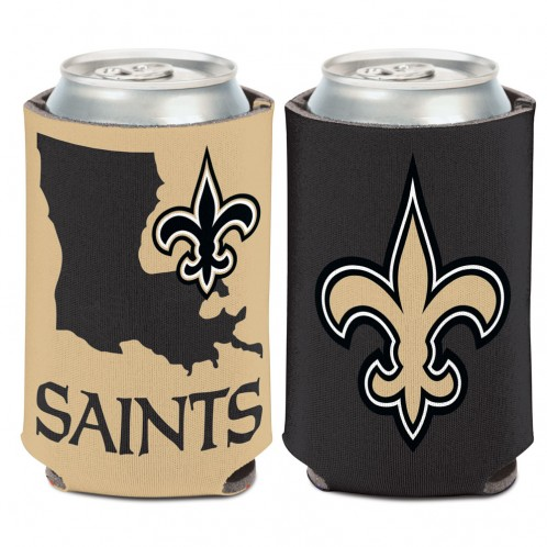 New Orleans Saints State Shape Can Cooler