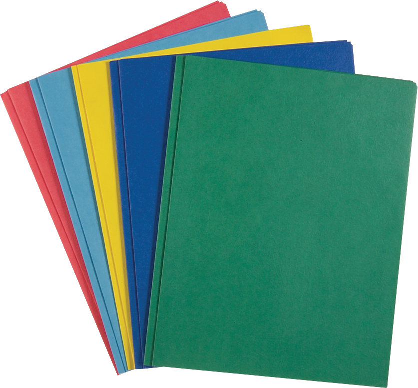 Roaring Spring Gusset Paper Pocket Folder - Asst 9.5x11.75in 25Pk Bulk 2 Pocket w-Prongs