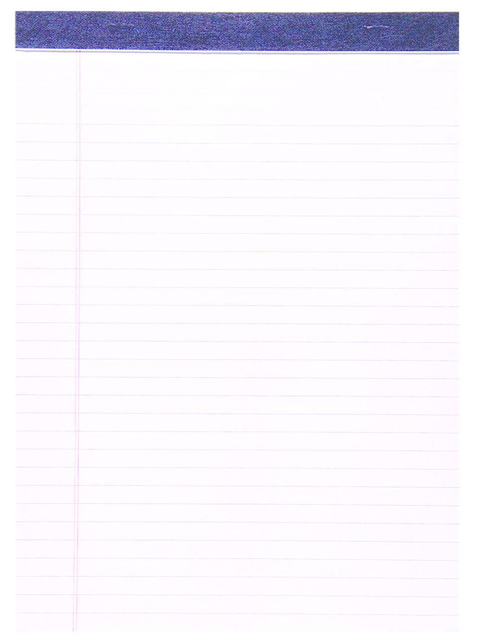 Roaring Spring Legal Pad - White 8.5x11.75in 50Sht Bulk Letter