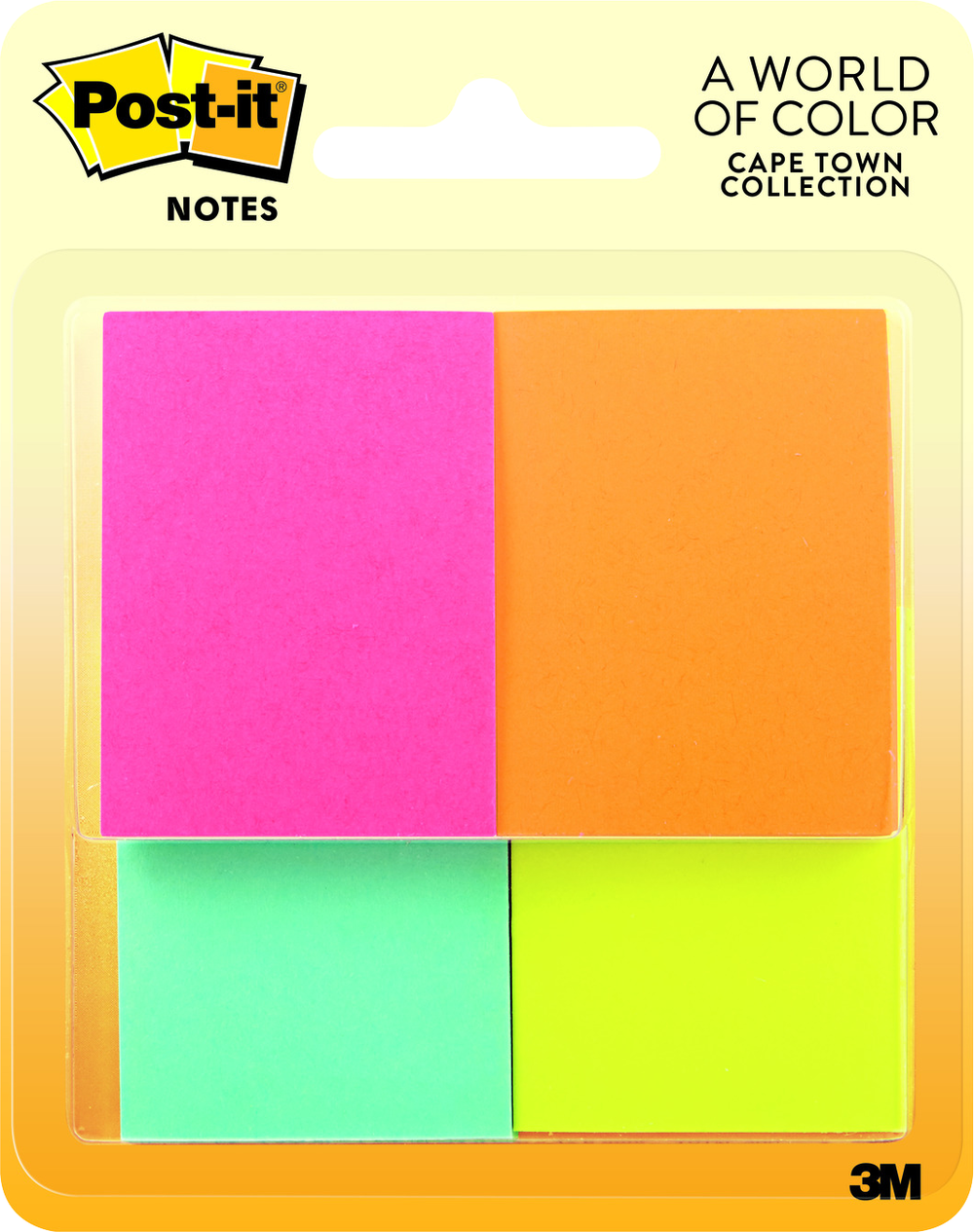 Post-it Sticky Notes - Asst 1.5x2in 4Pk BP 50 Sht-Capetown