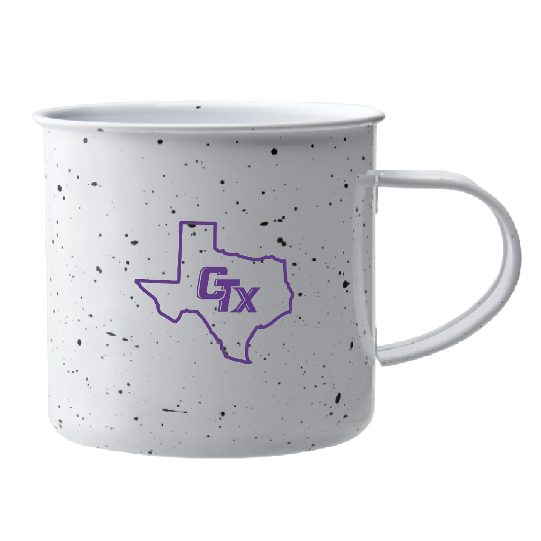 Camping Mug - White Speckled