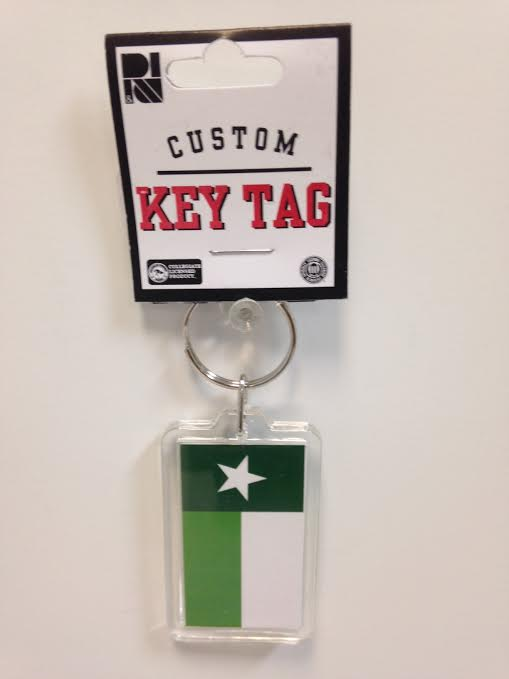 NORTH TEXAS FLAG KEYTAG