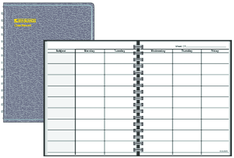 AT-A-GLANCE Teacher's Planner - Black 8.44x10.88in Bulk 30% recycled