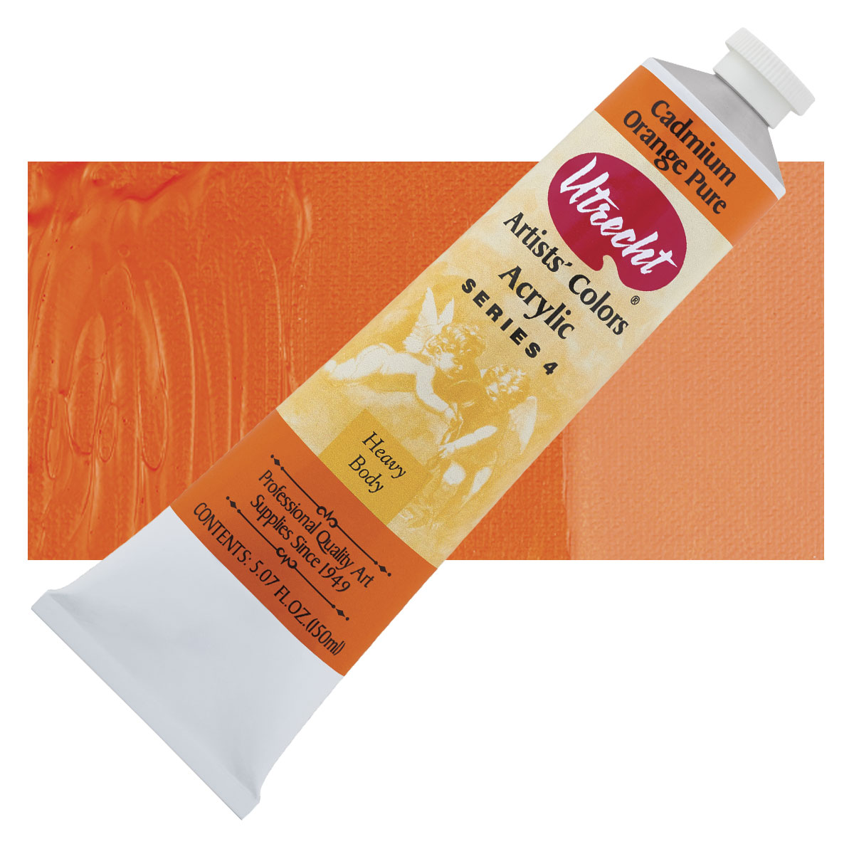 5 Oz Utrecht Cadmium Orange Hue Acrylic Paint
