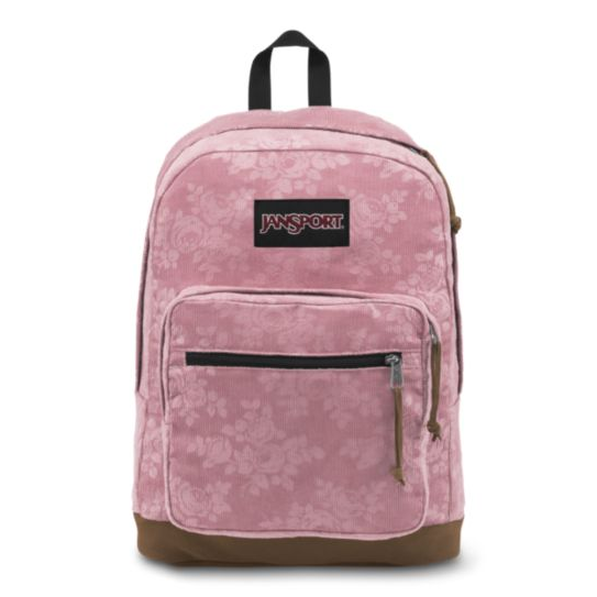 JanSport Right Pack Expressions Backpack - Vintage Pink Rose Corduroy