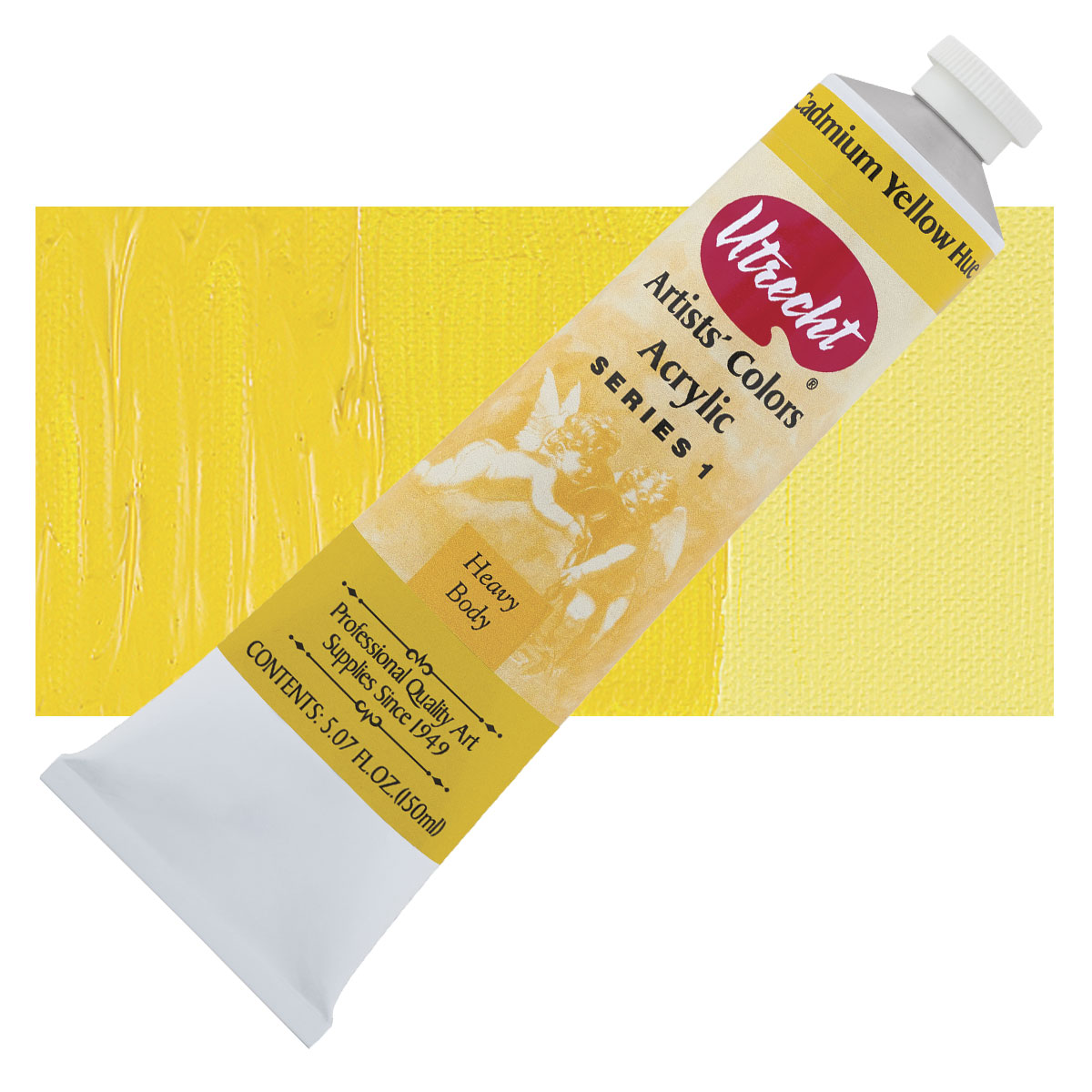 5 Oz Utrecht Cadmium Yellow Hue Acrylic Paint