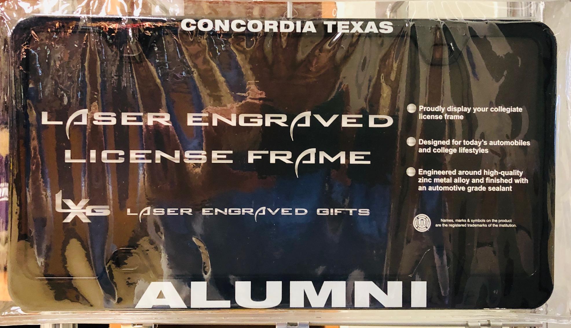Alumni License Plate Holder - Black