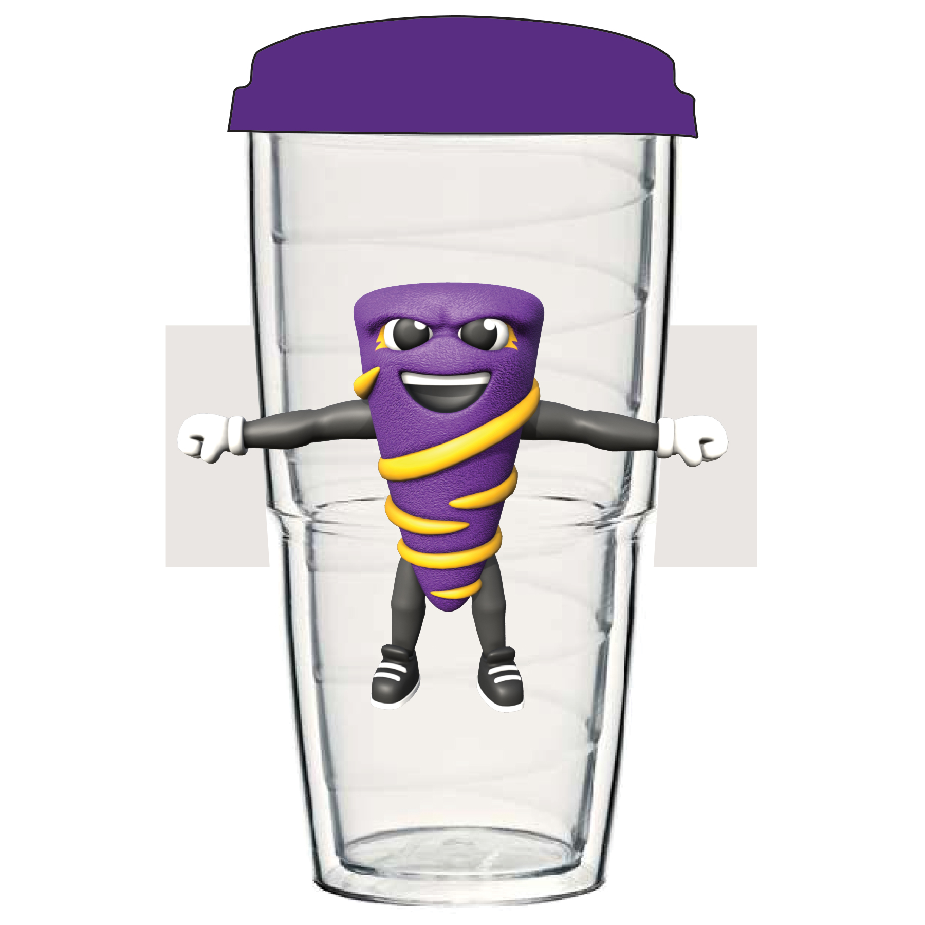 Thermo Mascot Tumbler - Clear