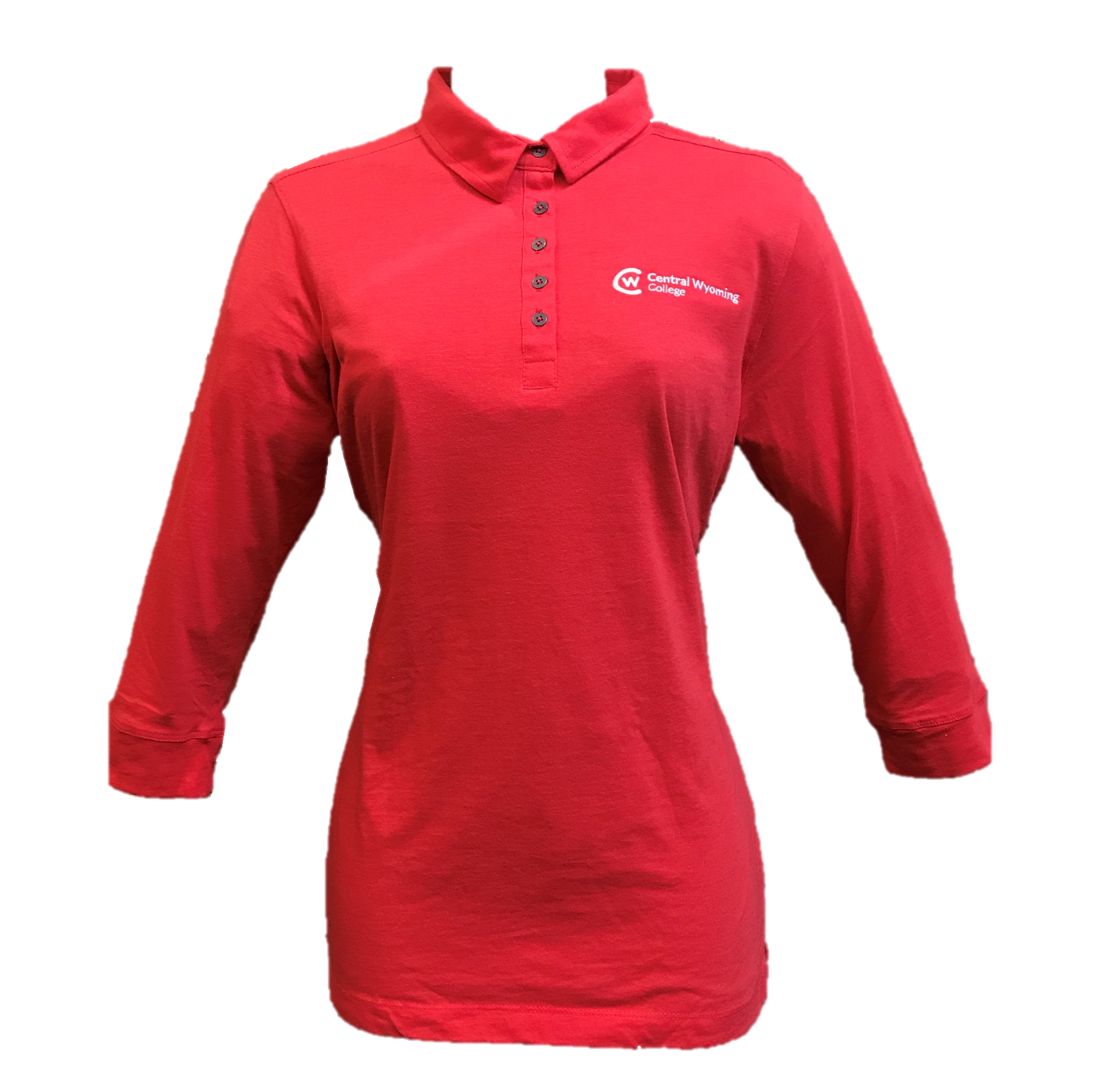Women's 3/4 Sleeve Cotton Polo