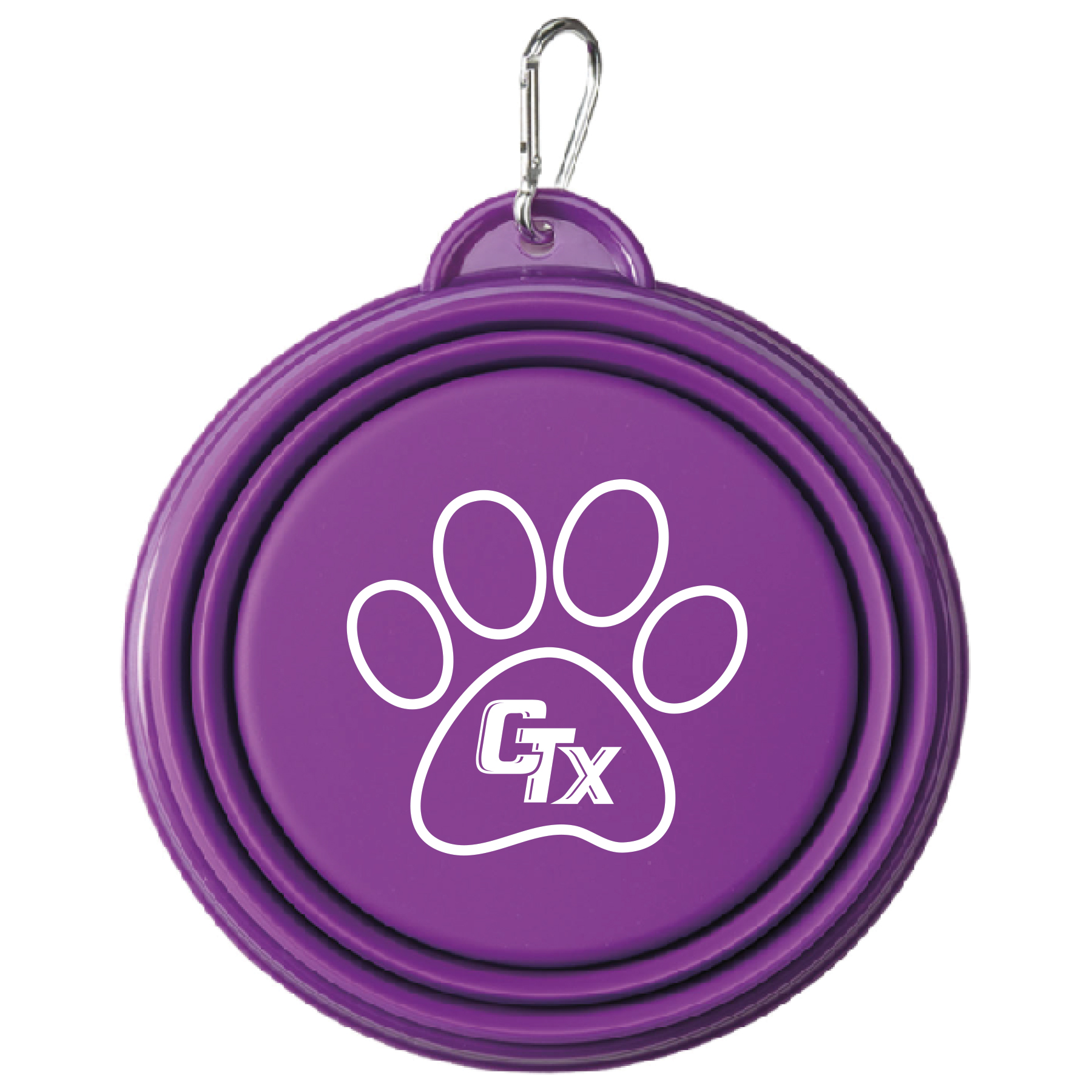 Dog Collapsable Bowl - Purple