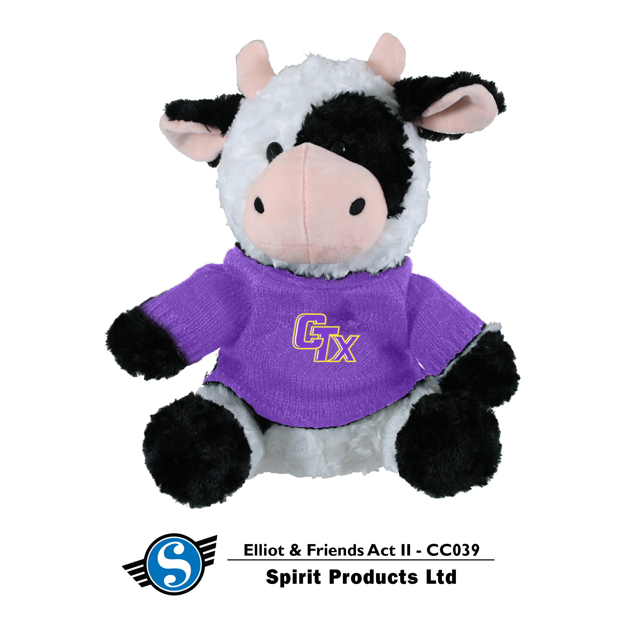 Cow in CTX Sweater - Black and White