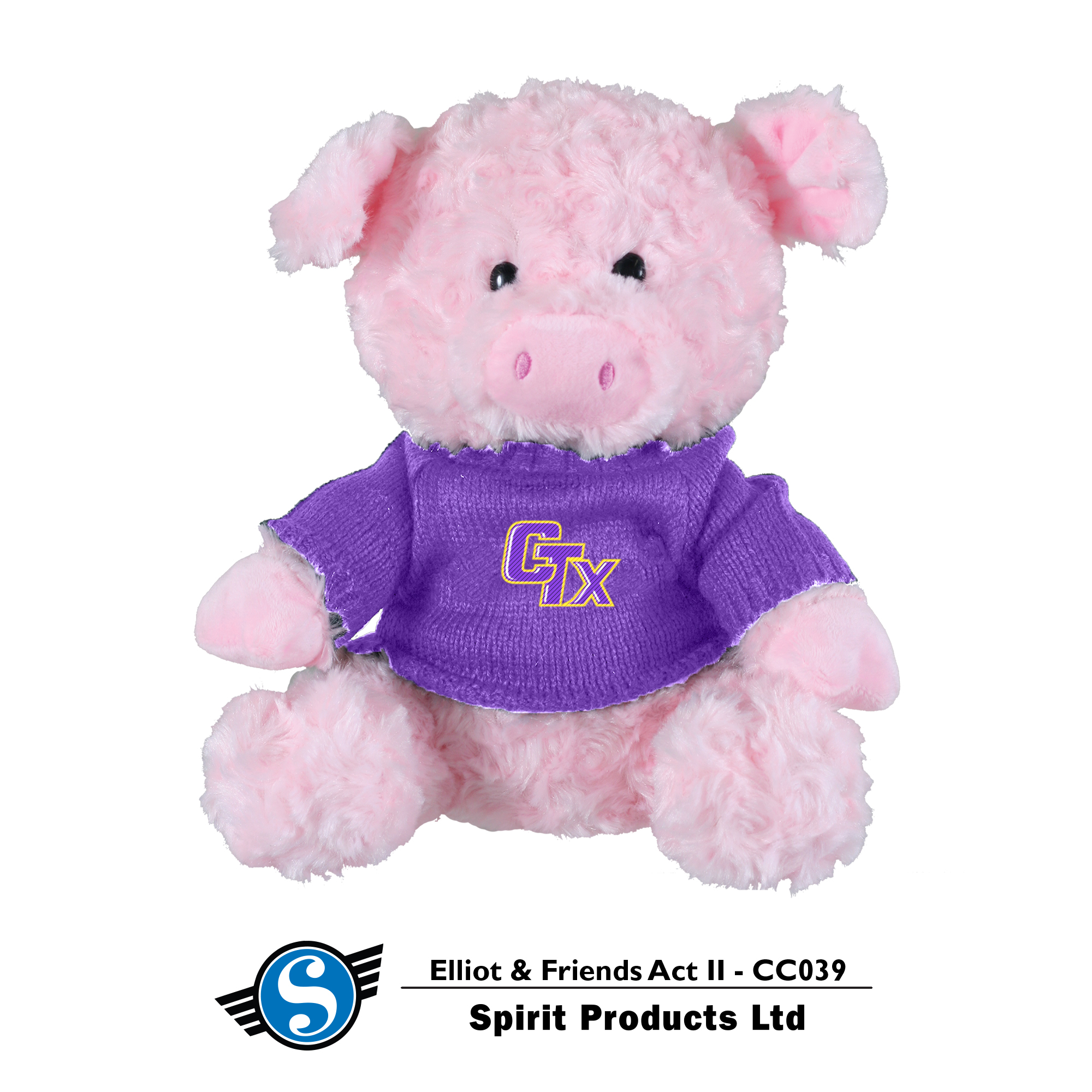 Pig in CTX Sweater - Pink