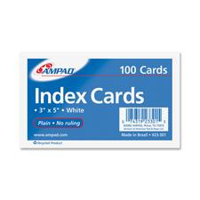3x5 Plain Index Cards 100CT Plain