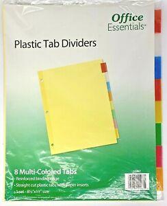 Plastic Insertable Dividers, 8-Tab