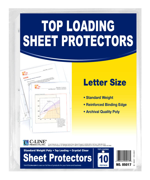 Sheet Protectors (10 Pack) Clear
