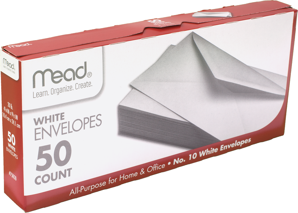 Mead All-Purpose Envelope - White #10 50Ct Box