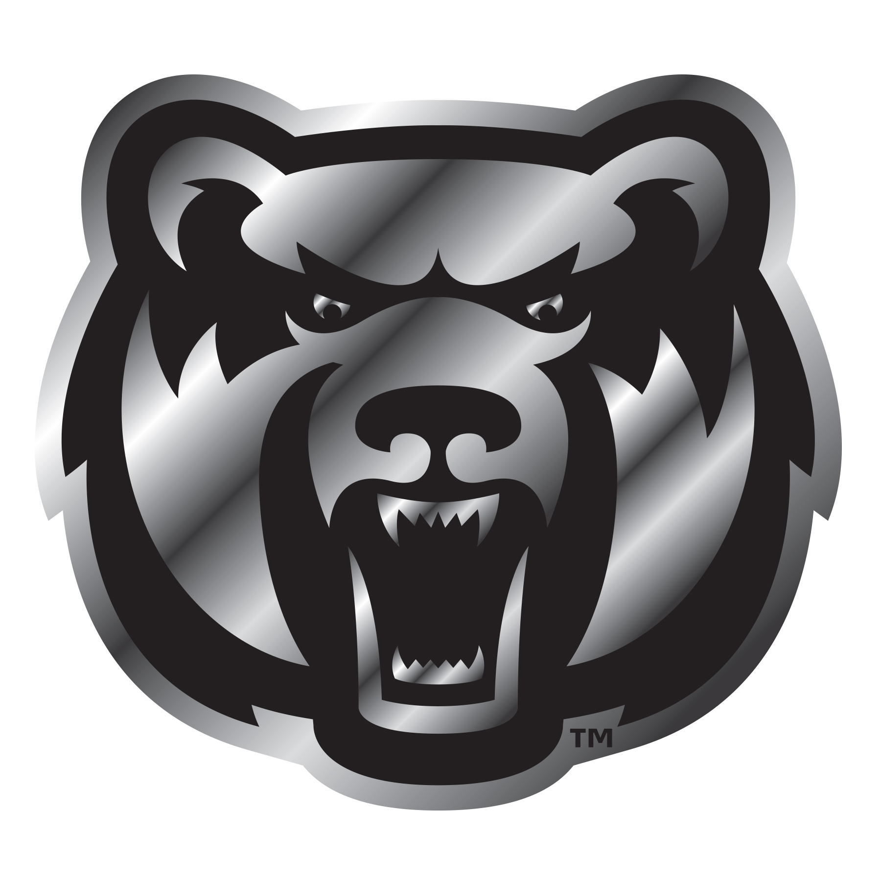 Chrome Bearhead Car Emblem