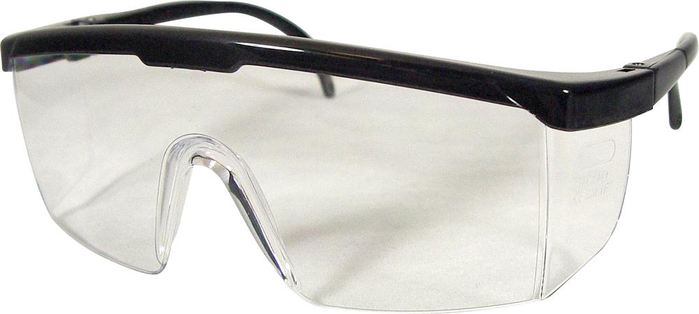 DR Instruments Wrap Around Safety Glasses - Black Adjustable 1Pk BP ANSI Approved