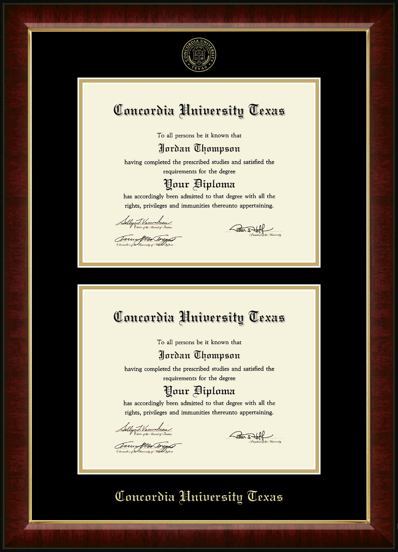 11x14 Double Degree Diploma Frame