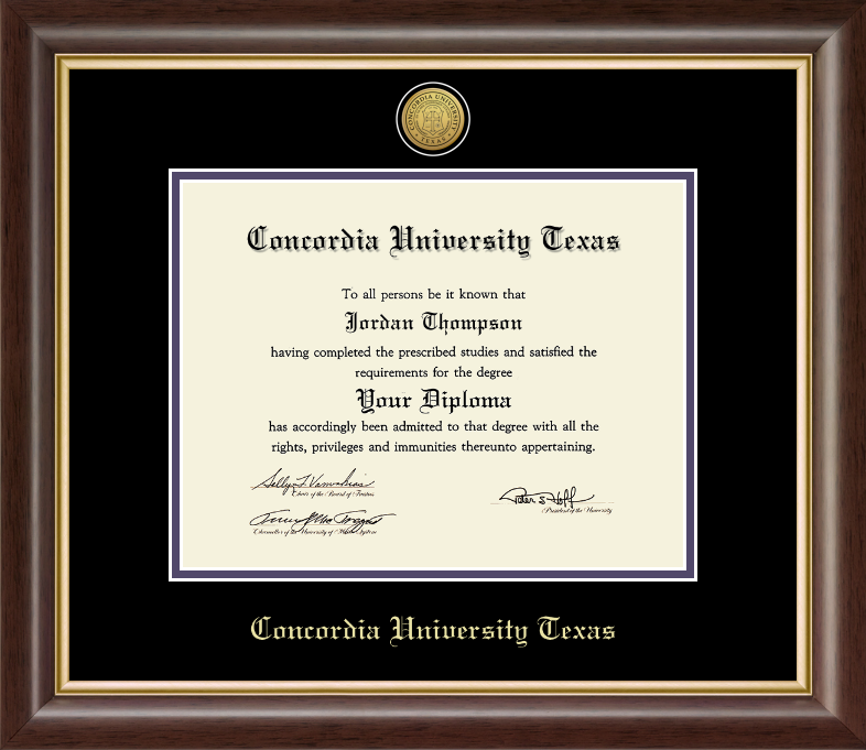 11x14 Gold Engraved Medallion Diploma Frame