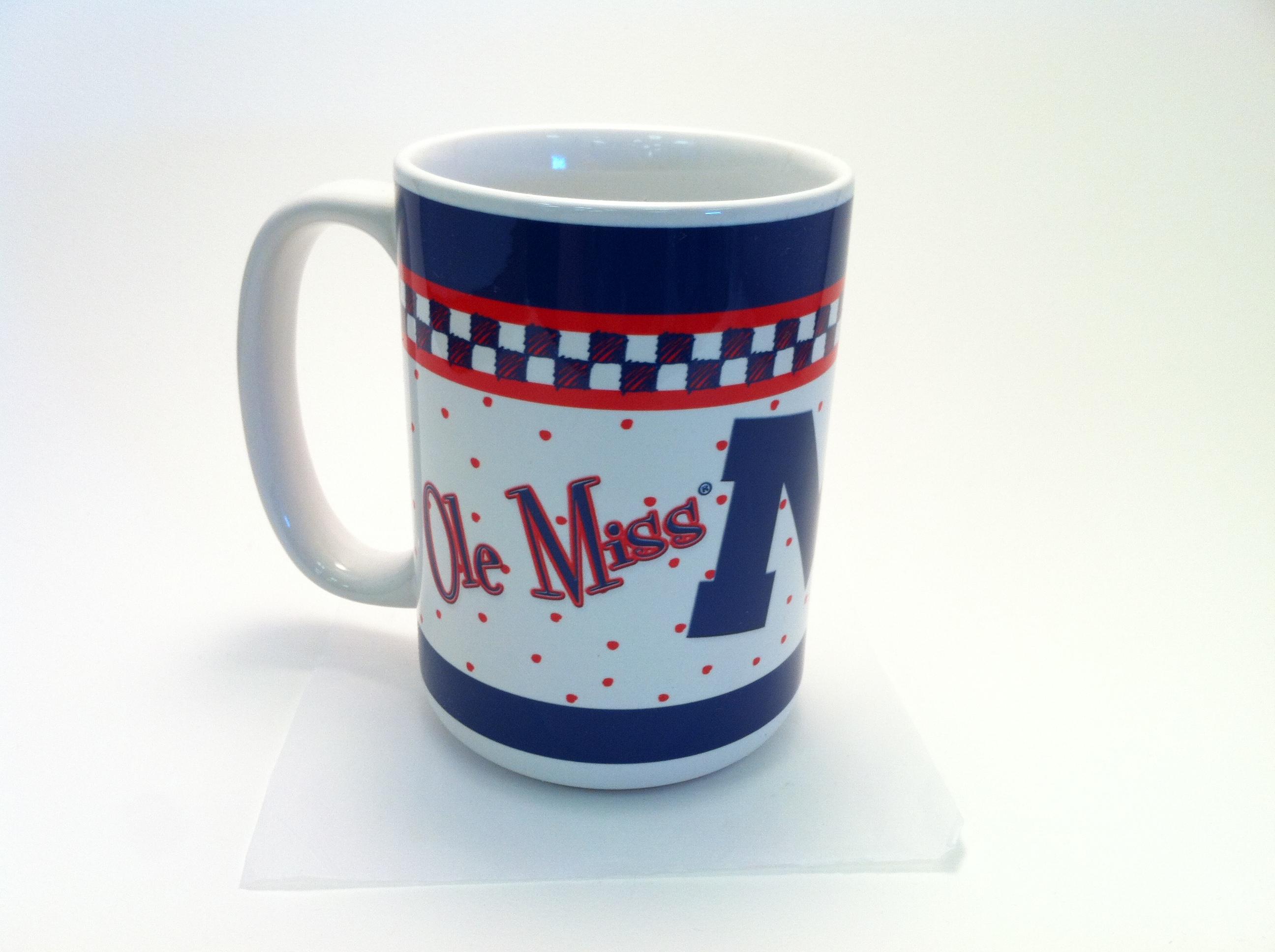 Checkered Ole Miss Coffee Mug