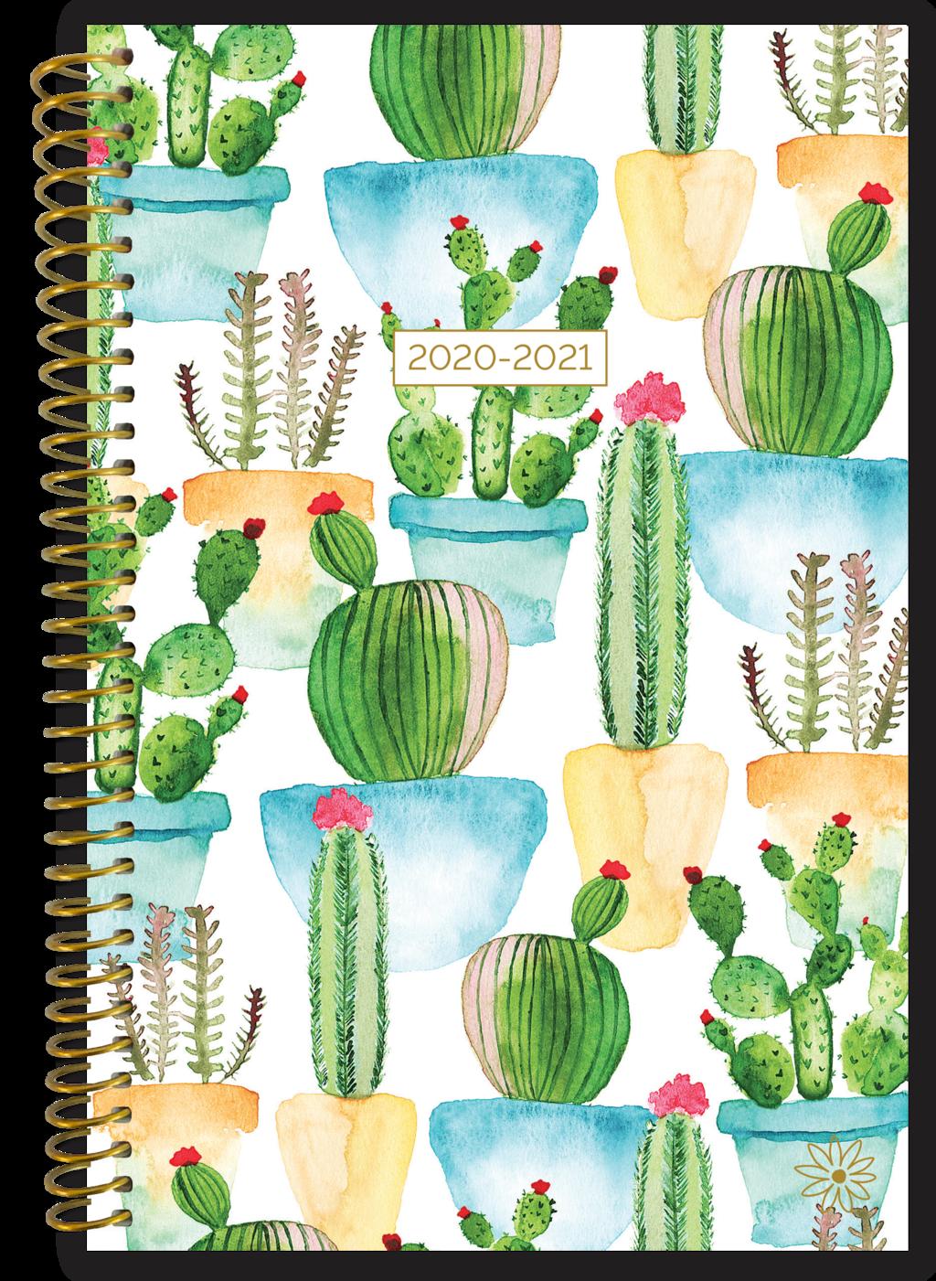 White Cacti Planner