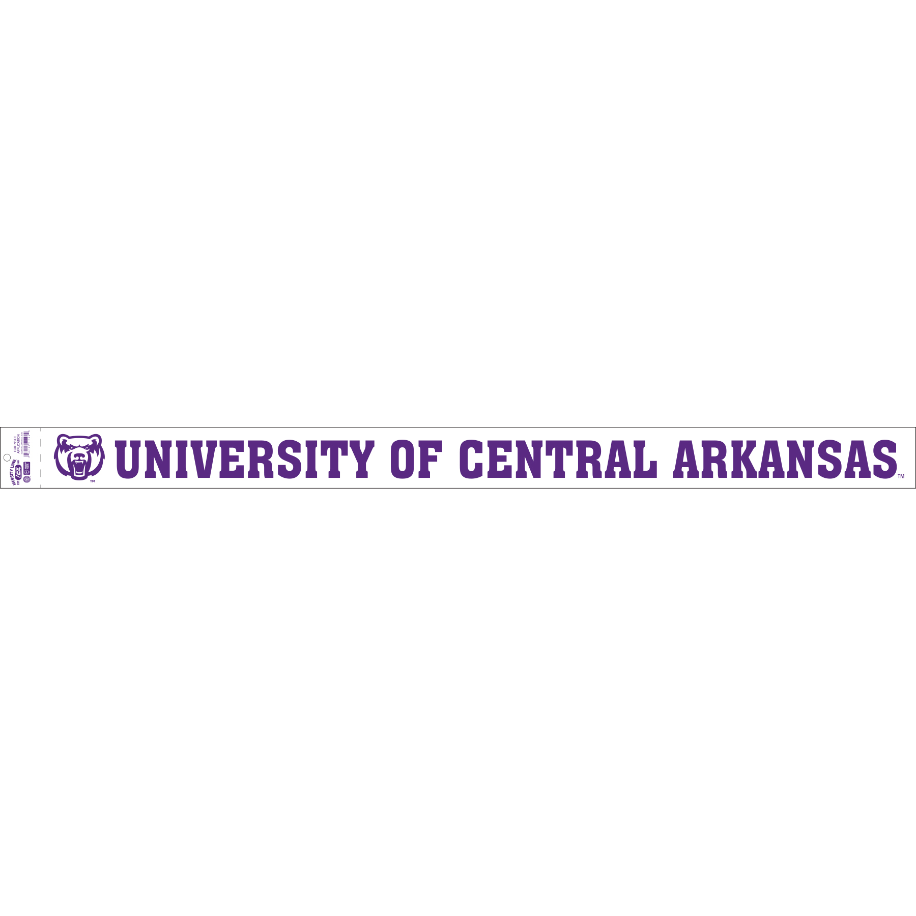 University of Central Arkansas Long Decal